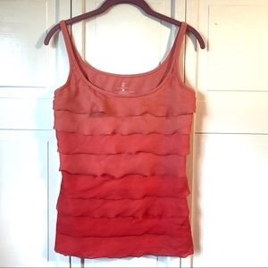 New York & Company Orange Ombré Tank, size Medium